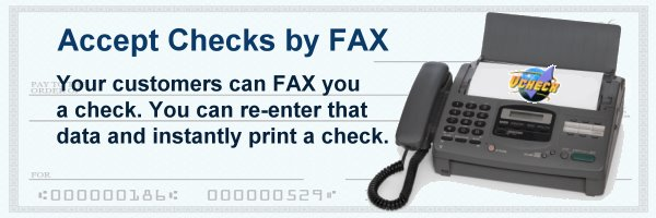 Accept Checks by FAX