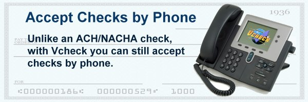 Accept Checks By Phone Details