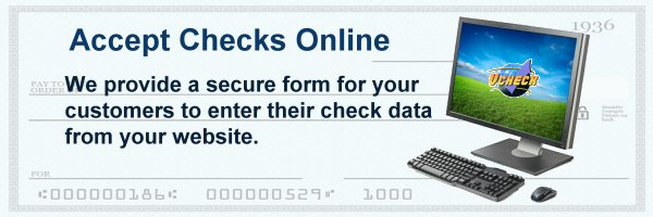 Accept Checks Online from Website